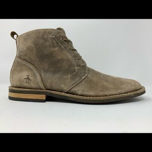 Penguin Brown Casual Suede Chukka Boots Size 12.